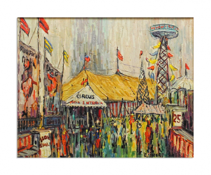 Circus scene - title unknown