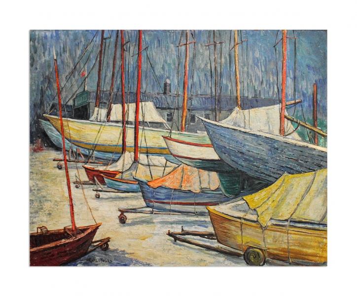 Boats on beach
