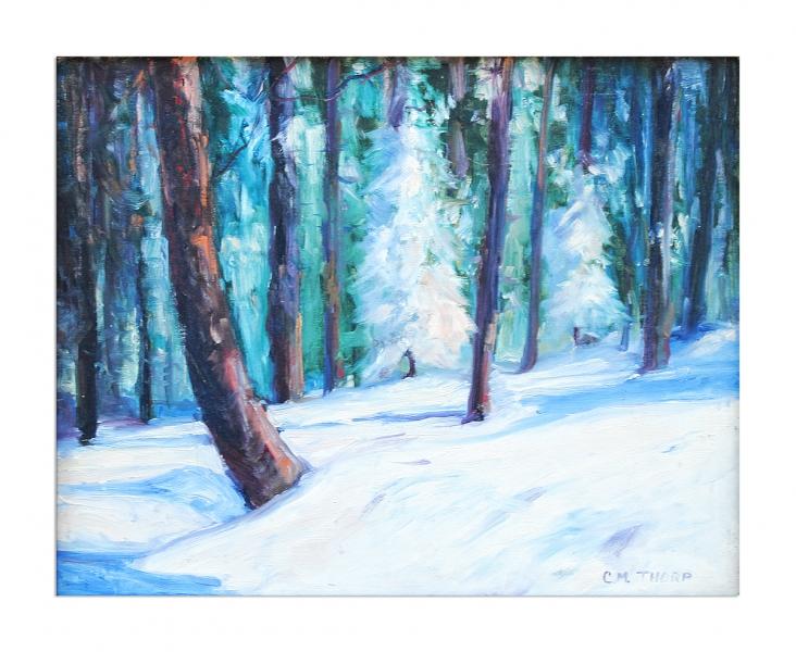 Snow scene - title unknown