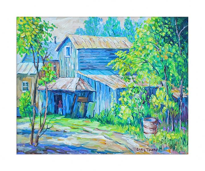 Franklinton barn - title unknown
