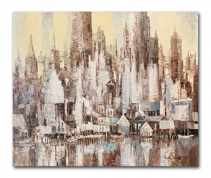 """Title """"The City"""" - New York 1962"""
